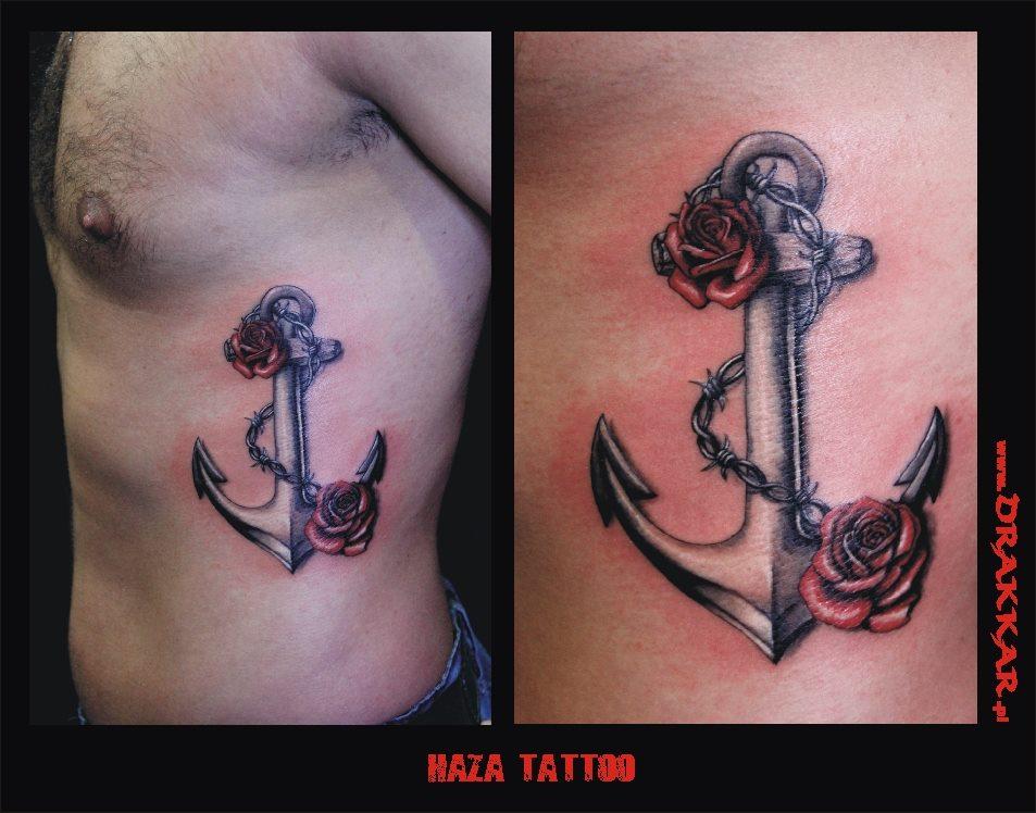 tatuaż kotwica, Gliwicami
