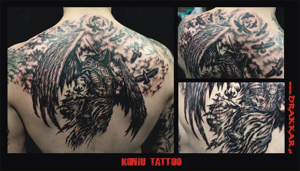 tatuaż na plecach, Gliwice