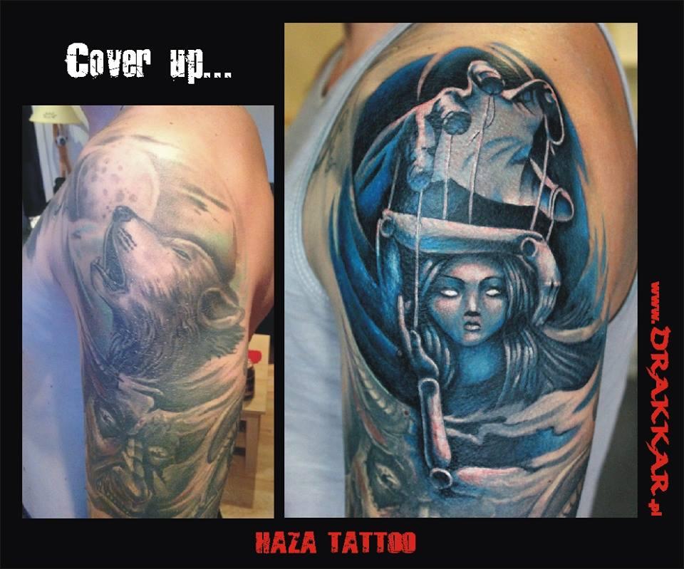 cover up, studio tatuażu Drakkar