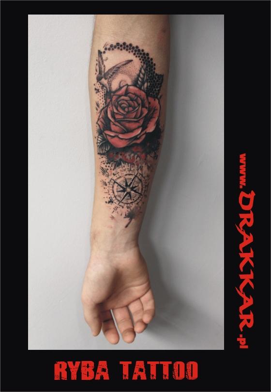 Kolorowe Tatuaże Tatuaż Artystyczny Drakkar Katowice Tarnowskie