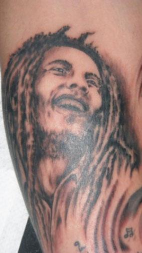 Bob Marley - tatuaż studia Drakkar