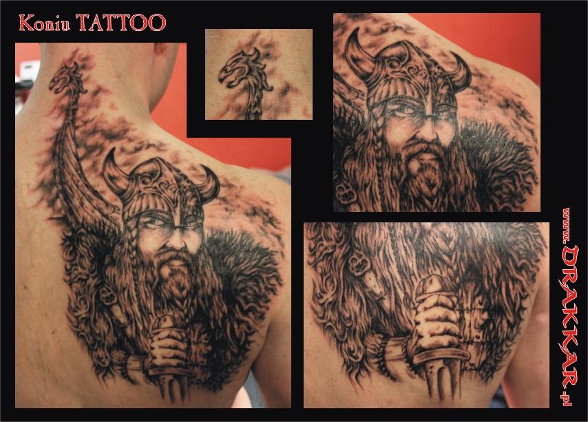 Wiking tatuaż, studio Drakkar, Tarnowskie Góry