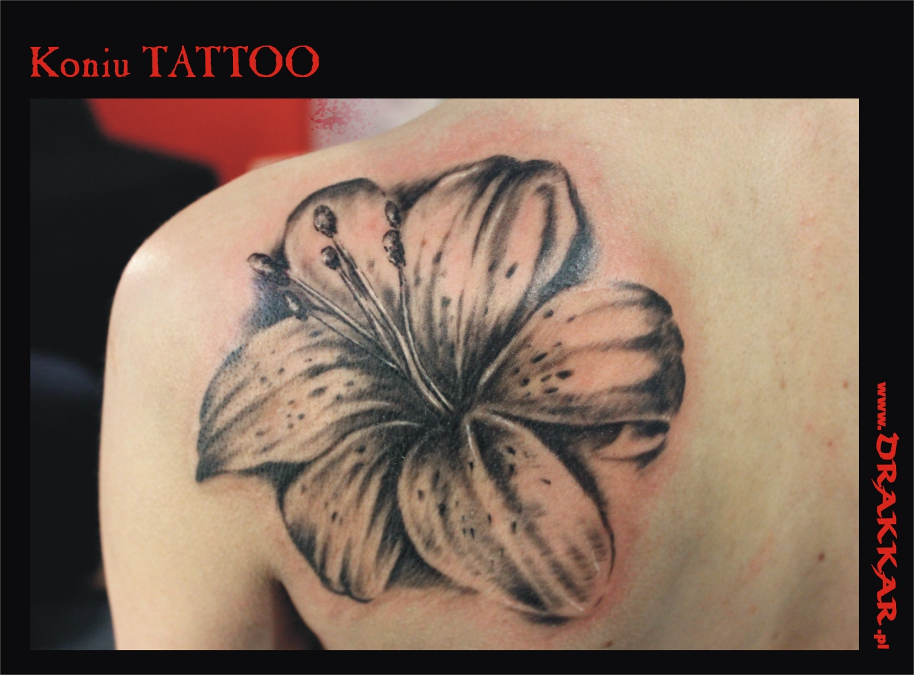 tatuaż z kwiatem, studio tatuażu Śląsk