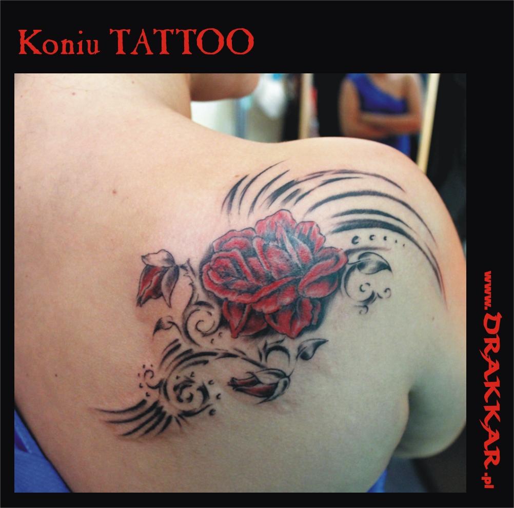 Tatuaż z kwiatem, Katowice