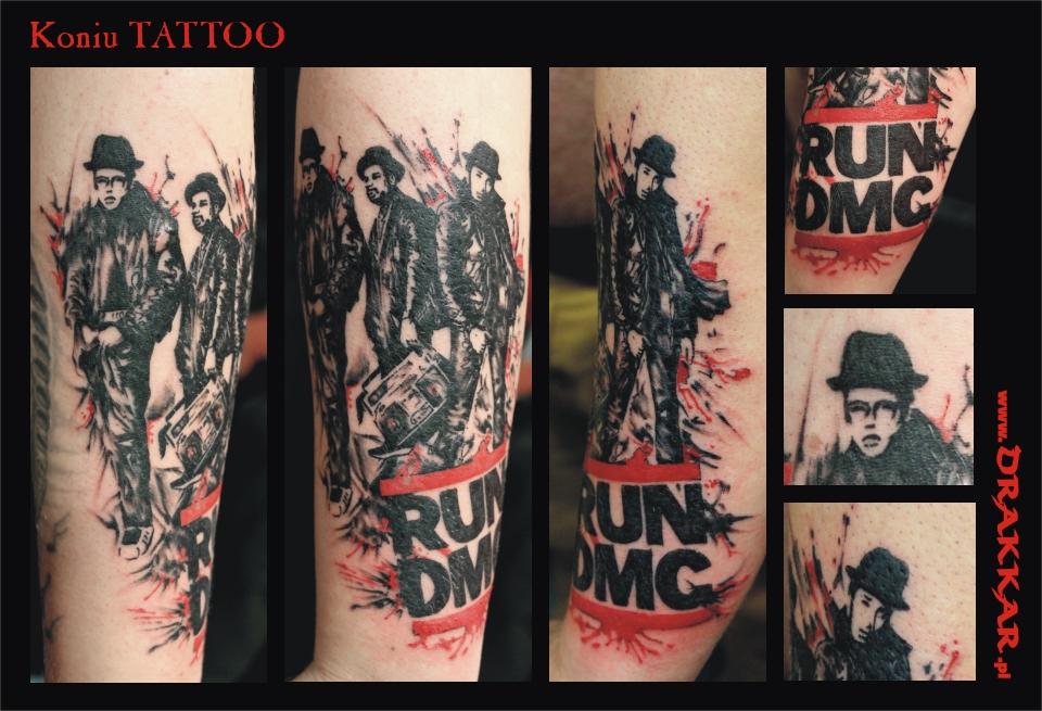 tatuaż Run DMC