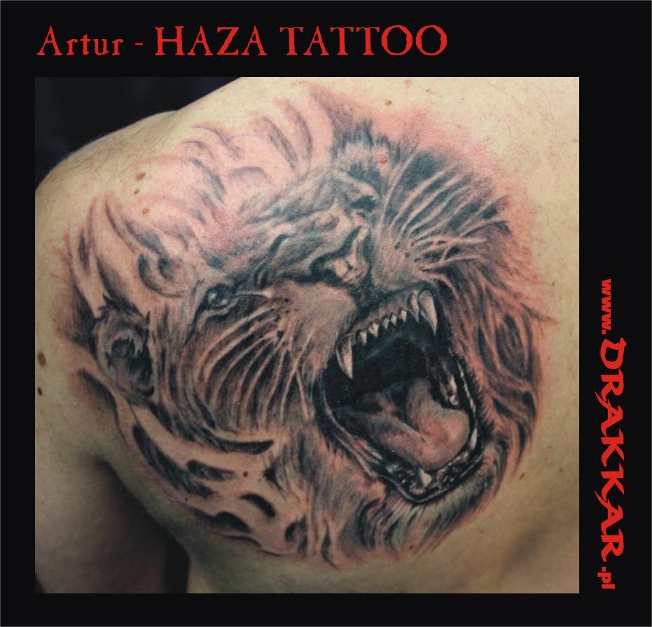 paszcza tygrysa - tatuaż, Śląsk