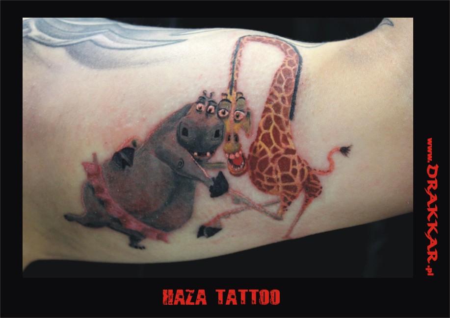 Haza tatuaż, studio Drakkar, Tarnowskie Góry