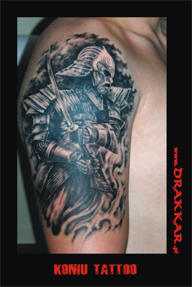 Koniu, tatuaż - studio Drakkar, Katowice, Gliwice