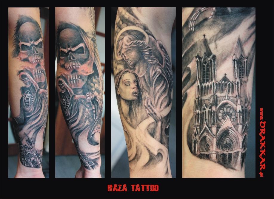 tatuaż Hazy, studio tatuażu Drakkar