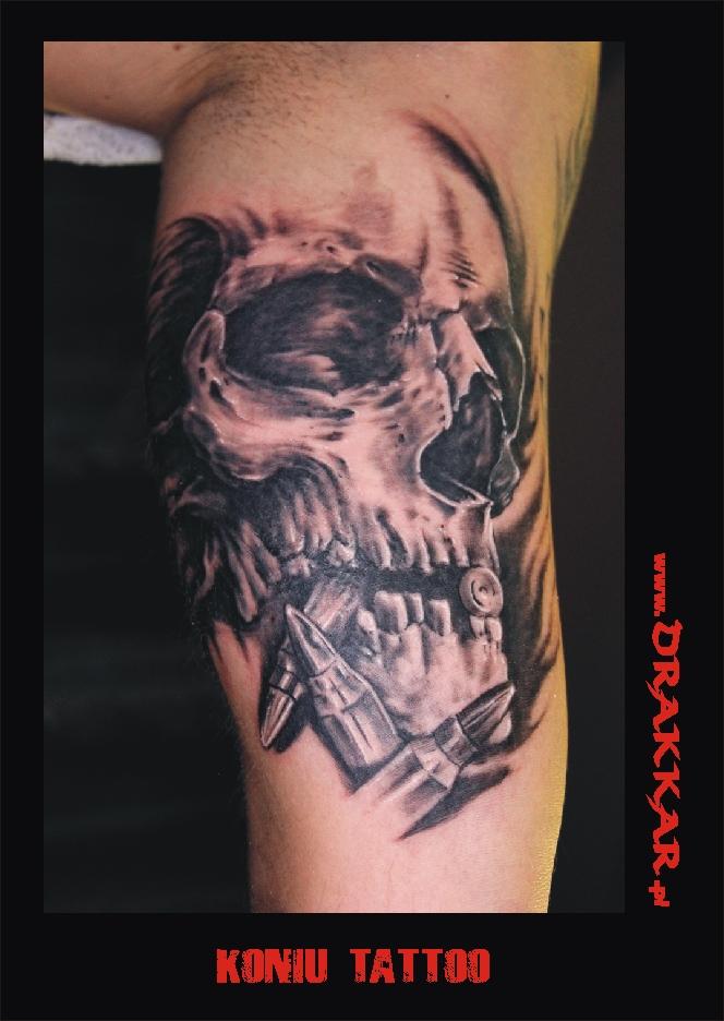 Tatuaż czaszka - studio tatuażu Drakkar