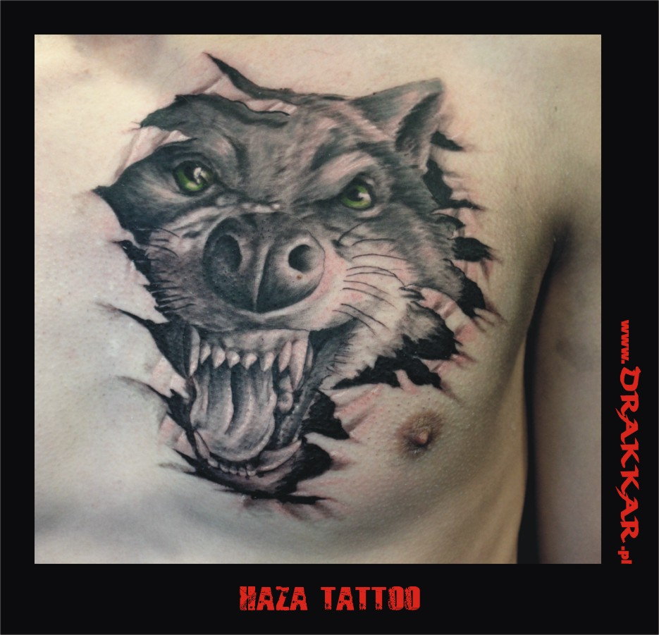 paszcza wilka, studio tatuażu Katowice