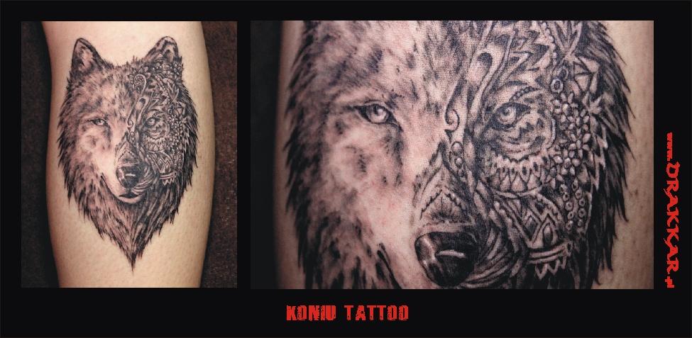 motyw wilka, tatuaż, Gliwice