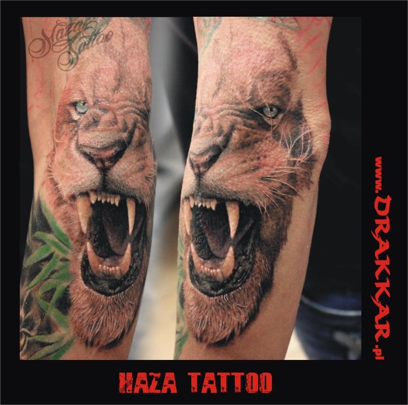 Kolorowe Tatuaże Tatuaż Artystyczny Drakkar Katowice