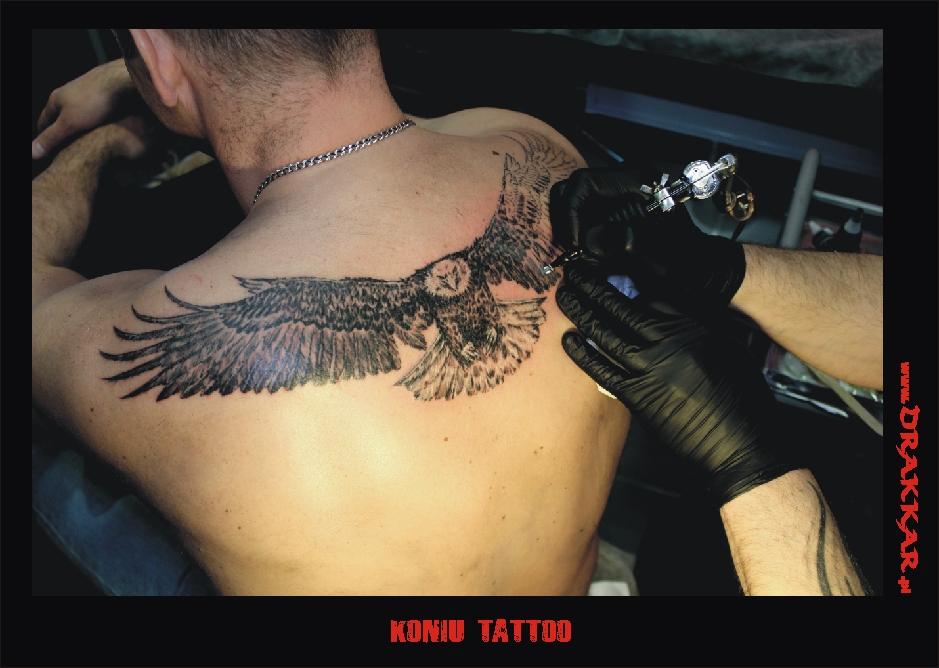 tatuaż z orłem, Gliwice