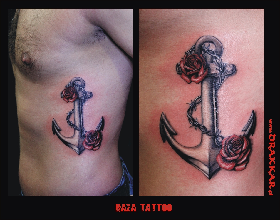 tatuaż kotwica haza, Gliwice